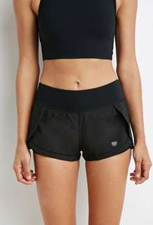 Layered workout shorts