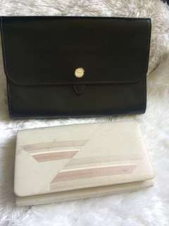 B1G1 Genuine Leather Clutch and get the white clutch for free!