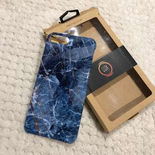 Blue marble case for iphone 8 plus