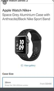 NIKE Series 3 Apple Watch (non cellular)