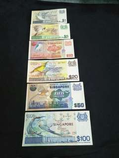 6pc sg Bird Series old notes  offer$238