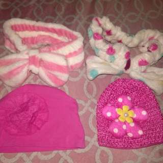 Hairband and bonet for your baby girl