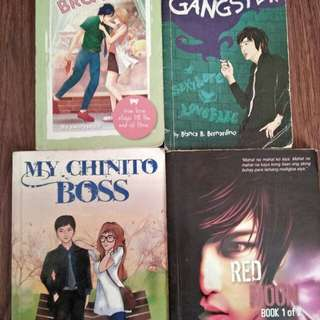 PRE LOVED WATTPAD BOOKS FOR ONLY 120 PESOS WITH BOOKMARKS!!