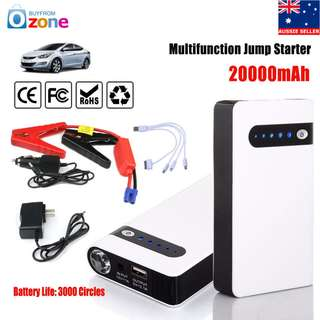 Car Battery Emergency Power Bank Charger USB LED Jump Starter Booster