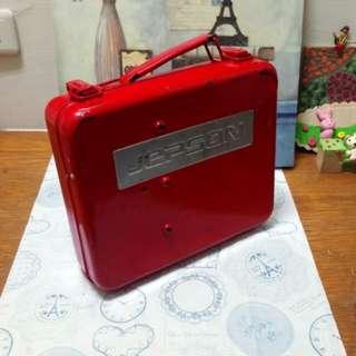 🚚 工業風紅色手提工具鐵盒