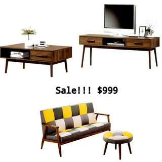Solidwood Living room Set