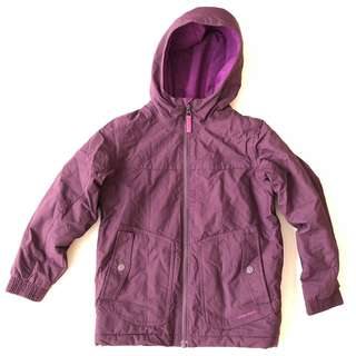Quechua purple winter jacket in size US 6 girls / kids