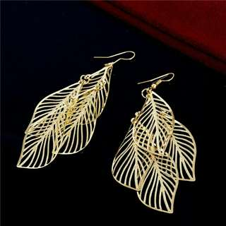 Leaf Earrings subang anting anting