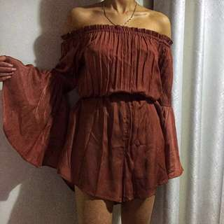 Ebby and I Playsuit Rust | Size AU8