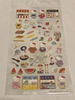 全新sanrio Hello Kitty 和服貼紙