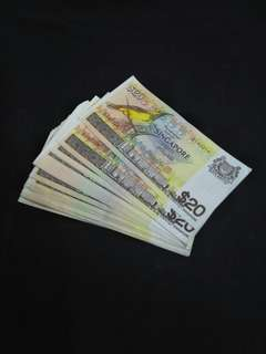 Sg old $20 notes 50pc x $26