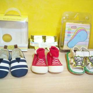 REPRICED Baby Shoes Set of Three