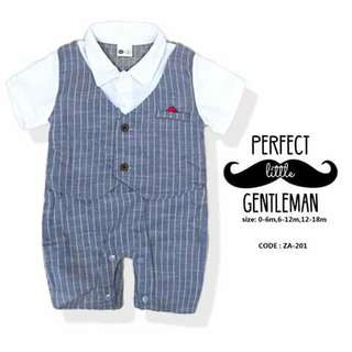 Little Gentleman Baby Romper - ZA201