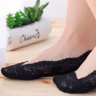 Ladies lace boat sock