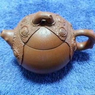 紫砂松皮壺
