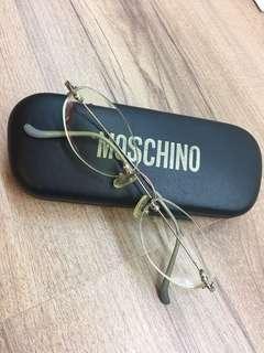 🚚 Moschino 無邊鏡框 二手 正品 不含鏡片