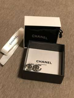 Authentic Chanel CC earrings