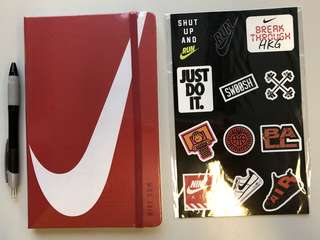 Nike Moleskine Notebook with Stickers