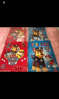 Last 10pcs for Grab no more stock!!! Paw Patrol activity book ABC /123 brand new each -$4 buy set w crayon -$4.90