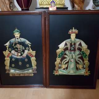 Qing Dynasty portraits of emperor and his empress