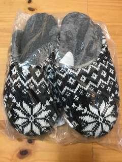 🚚 黑白雪花❄️毛毛拖鞋