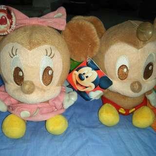 Sepasang Boneka Mickey Mouse