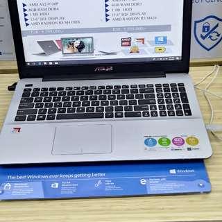 """Laptop 14"""" Asus X555Q Bisa Dicicil Tanpa Kartu Kredit Bunga Ringan Proses Cepat"""