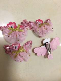 Pony hair clip with wings (last 4 pcs! $15 each)