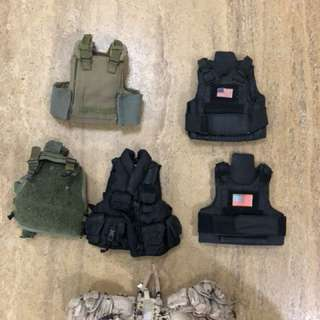 1/6 Vest and bags - $5 each