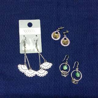 3 sets - Earrings Bundle