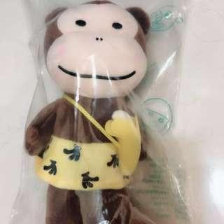 全新品 蘭城晶英酒店 芬多奇堡絨毛玩具 玩偶 奇奇 猴子🐒 吃香蕉