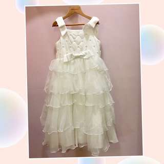 classic teddy 花童 畢業典禮 白色洋裝120CM