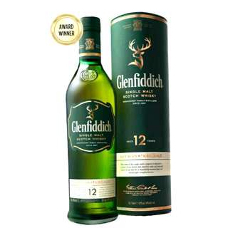 GLENFIDDICH 12 YEAR OLD  格蘭菲迪12年單一麥芽威士忌 700ml / 40% Speyside Single Malt Scotch Whisky Distillery Bottling