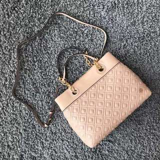Tory Burch Fleming Quilted Tote Bag