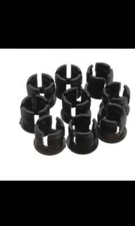 100Pcs 5mm Black Plastic LED Clip Holder Case Panel Bezel Display Cup Mounting