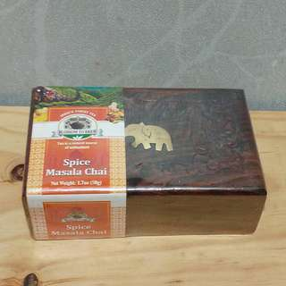 India's Finest Tea Spice Masala Chai 50g 連 手工木盒