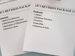 H2 Mathematics Topical Revision Package