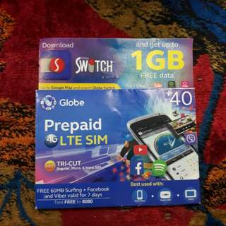 Globe LTE SIM Card