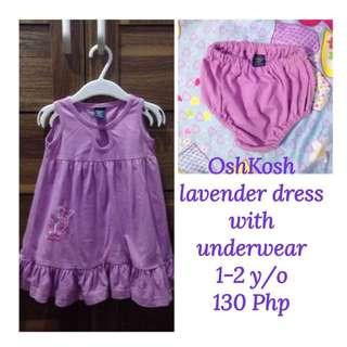 OshKosh Lavender Dress with Underwear