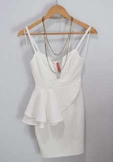 Blossoms White Dress