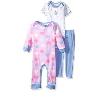 SALE 55% Off - 18/24 Mths BNWT Authentic Gerber baby girls 3pc set (coverall, bodysuit, pants)
