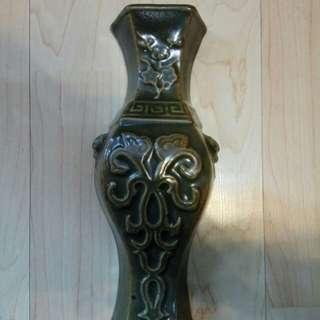 约60年代綠釉掛瓶