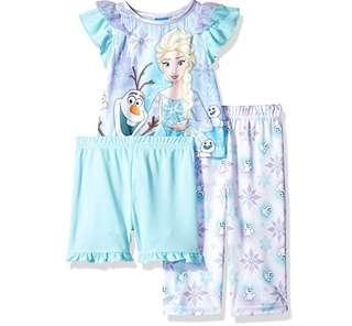 SALE 70% Off - 18 Mths BNWT Authentic Disney Store baby girls Frozen 3pc pyjamas / sleepwear set