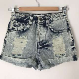 *NEW* Glassons ripped shorts size 6