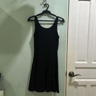 H&M LBD texturized low back dress