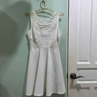 Mesh and lace angel dress