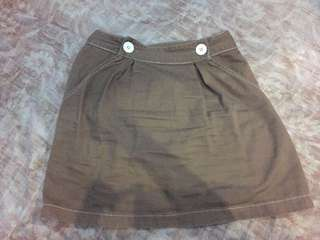 Pois brown skirt small