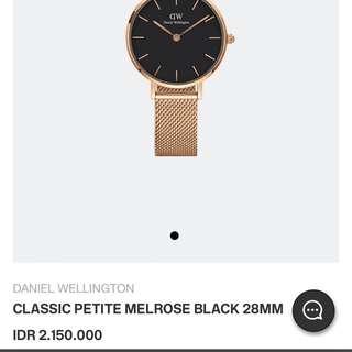 Daniel wellington dw jam tangan classic petite original 100% stockholm ad surat2 lengkap garansi smua lengkap dus dll