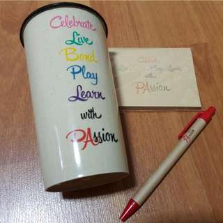 🔴PASSION MUG WITH COVER, PEN & PAPER