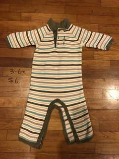 3-6 month baby boy romper for cold weather